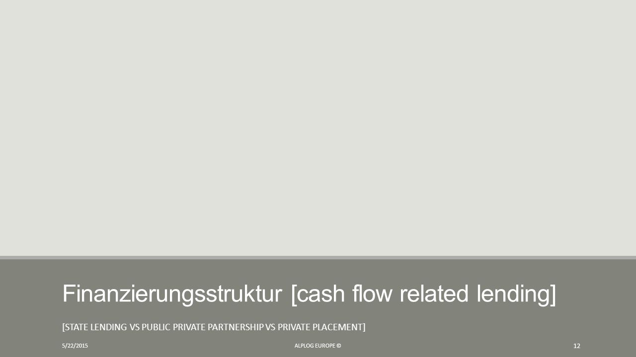 Finanzierungsstruktur [cash flow related lending]